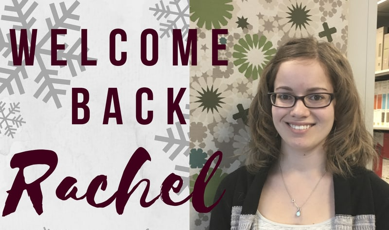 Welcome back Rachel Marks!